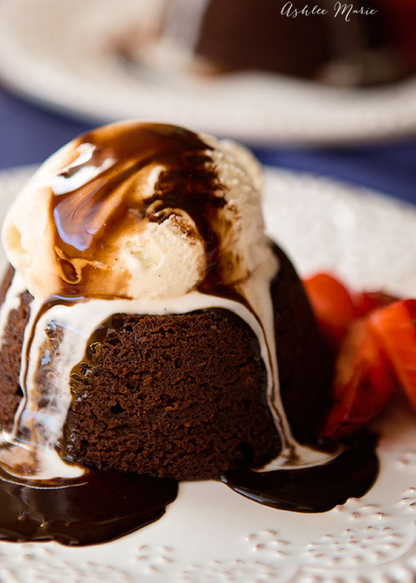 Chocolate molten lava cake Ashlee Marie real fun with real food