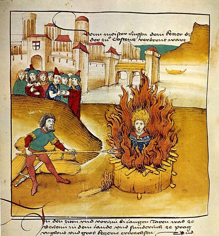 Burning of Jan Hus at the stake from Spiezer Chronik