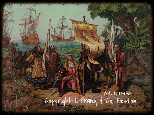 Débarquement de Christopher Colomb en Amérique en 1492