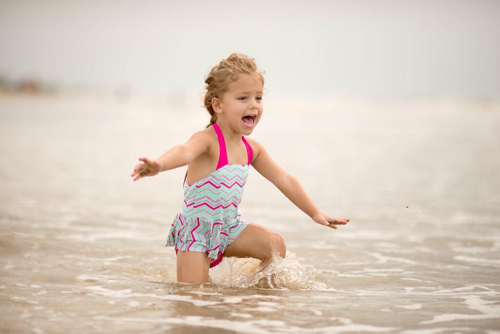 Reese Enjoying the Water