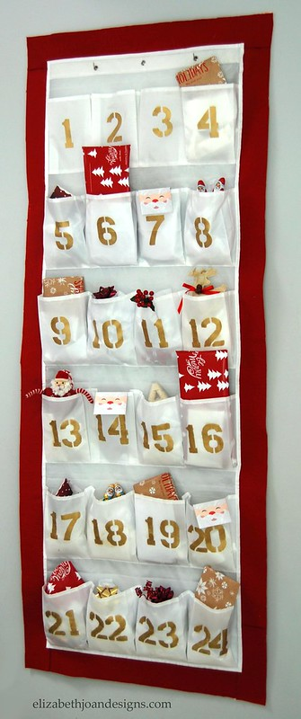 DIY advent calendar home tour