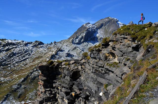 Mirador en los Alpes