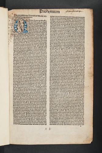 Penwork initial in Biblia