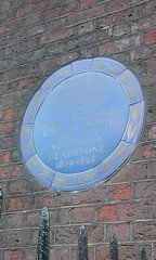 Photo of William Pitt, Edward Geoffrey Stanley, and William Ewart Gladstone blue plaque
