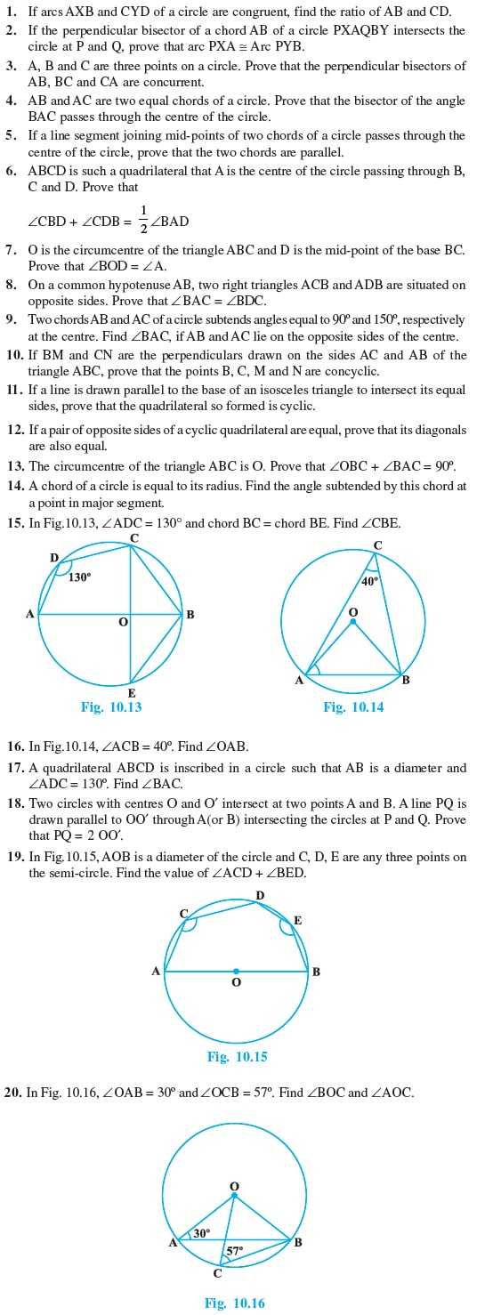 Class 9 Important Questions for Maths – Circles – AglaSem Schools