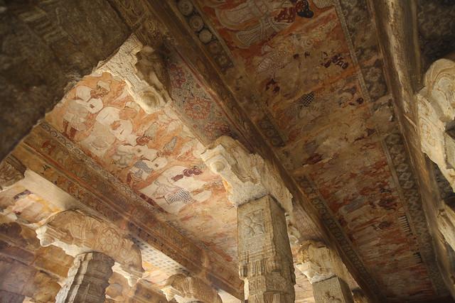 Plafond du temple de Lepakshi