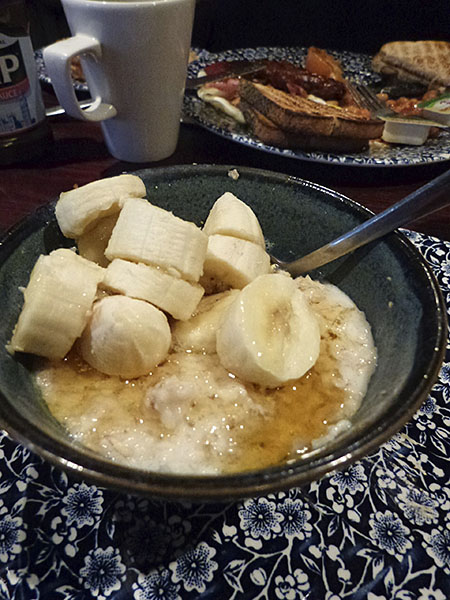 porridge et banane