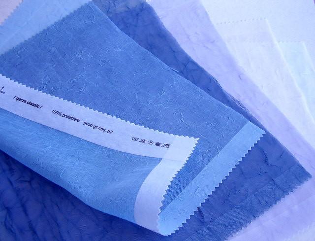 garza 5 tonalità - bianco, avorio, lilla, azzurro, blu