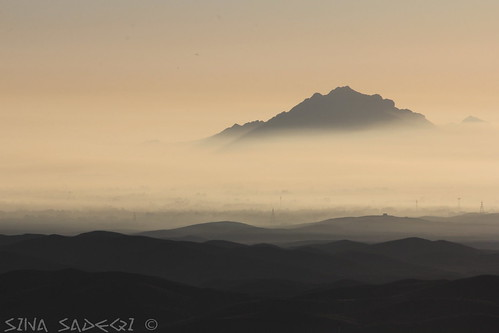 city morning mountain fog landscape iran air pollution ایران esfahan isfahan اصفهان آلودگی مه کوه صبح