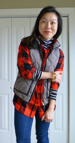 buffalo plaid + herringbone