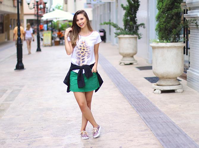 05-look do dia saia e tenis de oncinha petite jolie blog sempre glamour