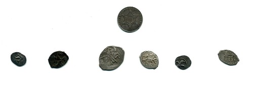 small Russian coins obverses