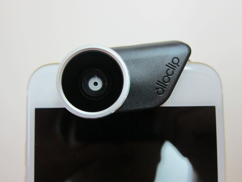 Olloclip 4-in-1 Photo Lens for iPhone 6/6 Plus - Attached To Front Camera On iPhone 6 Plus Front