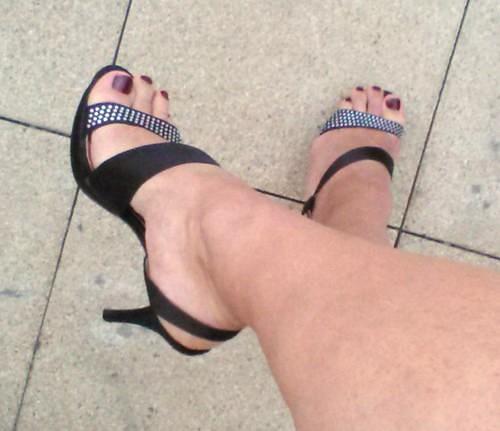 Ladies high heels feet mature