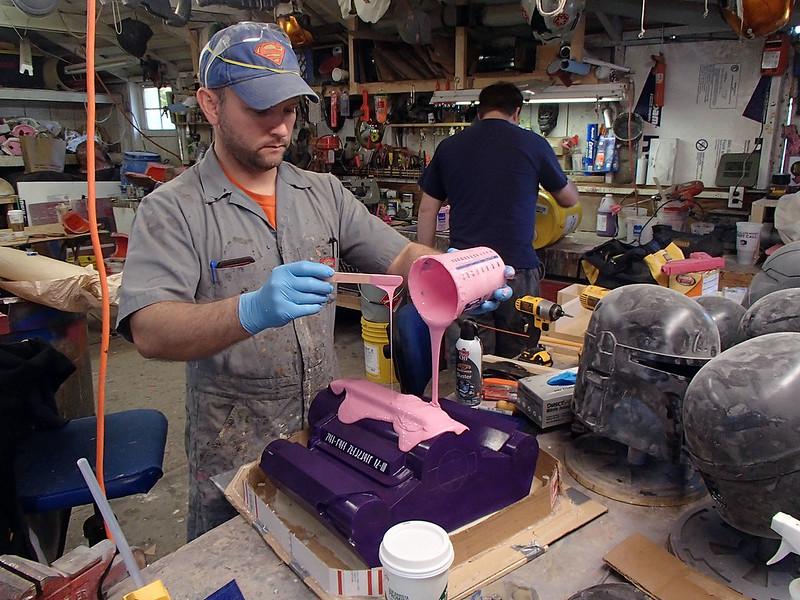 Pouring Jetpack Print Coat