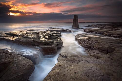sea england sky lighthouse st clouds sunrise canon dark moody unitedkingdom rangefinder northumberland marys 6d northtynesidedistrict