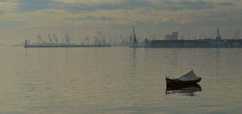 street new morning blue sea sky people sun yellow clouds port sunrise lens landscape boats photography lights dock nikon focus perfect no year greece macedonia filter automatic thessaloniki kit feeling dslr filters journalism timeless lightroom neutral nea 2015 paralia d3200 παραλια xalara νεα χαλαρα