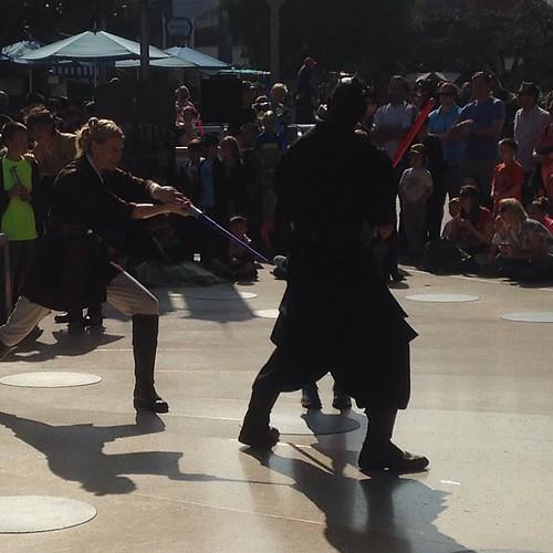 Jedi training Academy for two kids #Disneyland #jedi #starwars