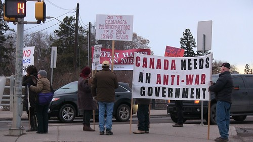 Defeat Harper in 2015 - ECAWAR Picket