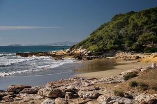 Image of Platja de Calabecs. sea españa costa coast mar spain catalonia catalunya cataluña tarragona costadaurada