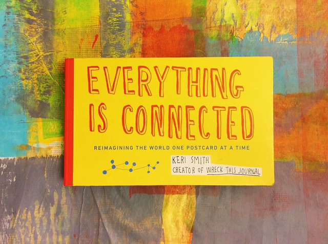 Everything is Connected postcard book by Keri Smith