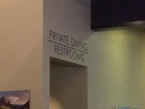 Private Dining and Restrooms