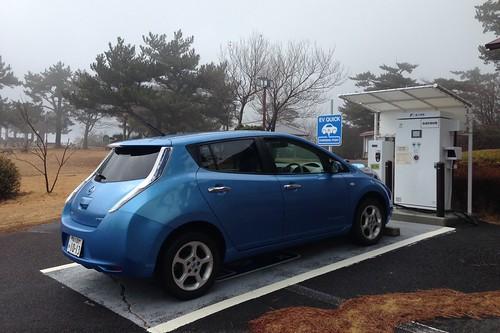 寒霞渓山頂駐車場 EV急速充電器