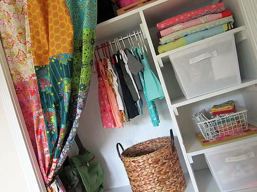 Folk Song nursery closet curtains