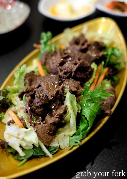 Wagyu beef salad from Seoul Orizin, Haymarket Chinatown