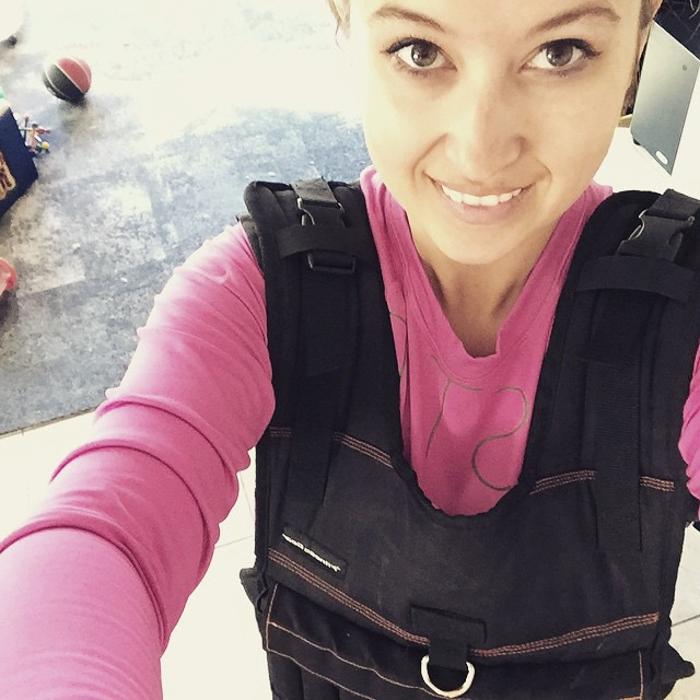Stepping up my walking routine with a 20lb weighted vest. I'm probably going to need a wambulance... 🚑 by bartlewife