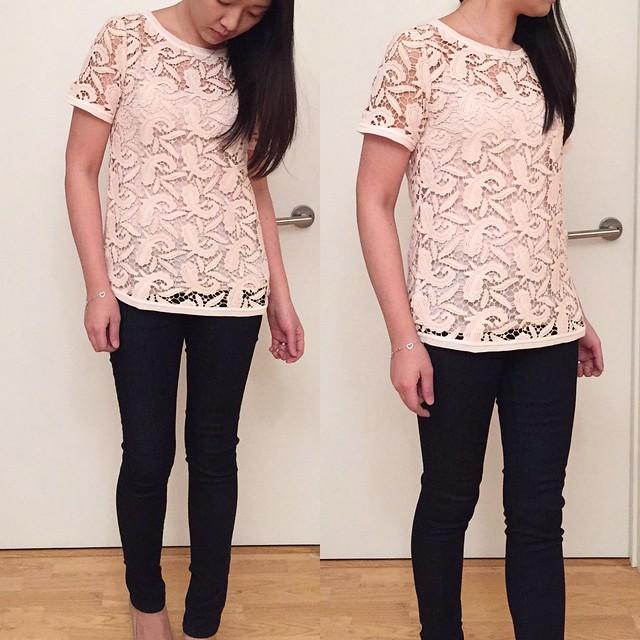 LOFT Paisley Lace Top, size XXS