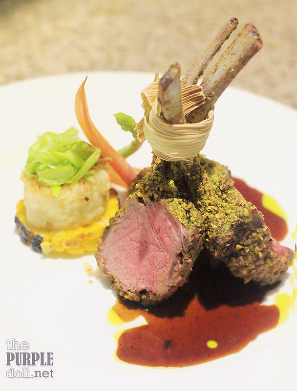 Pistachio crusted rack of lamb from The Terrace