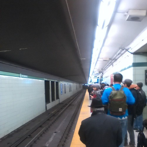 Waiting for the next train at St. George, after a short-turning #ttc #toronto #stgeorge #subways