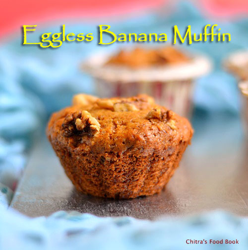 Eggless banana muffin recipe