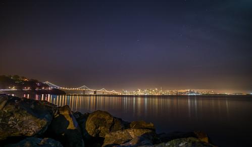 San Francisco Skyline in a Starlit Sky