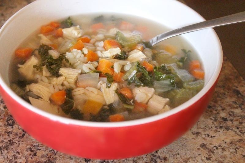 Chicken & Kale Scotch Broth, 202 calories
