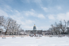 State Capitol Building in the snow