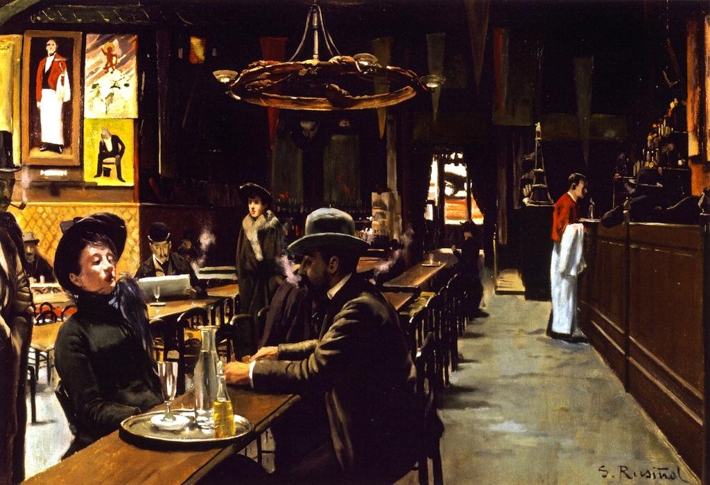 El Cafe de Montmartre by Santiago Rusiñol Prats - 1890