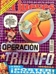 """""""El Jueves"""", 1390 (13/2/2002). """"Operación Triunfo"""". #ElJueves #Humor #Revistas #OperacionTriunfo"""