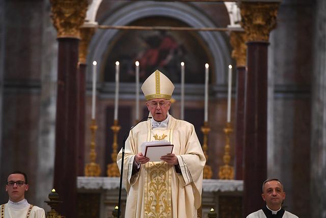 Msza święta w Bazylice św. Pawła za Murami, pod przewodnictwem abp. Stanisława Gądeckiego