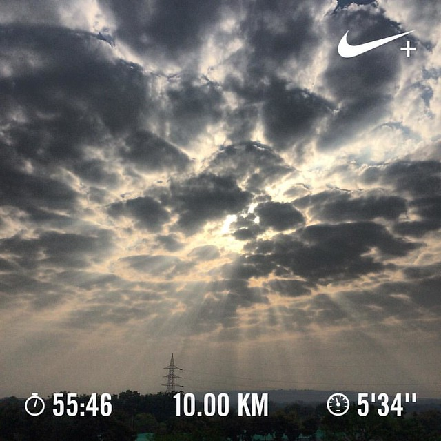 Said my thanks to the ring road gods 🙏😄, without which, I wouldn't have been able to practice for my half marathon race. #nikeplus #nikerunning #werun2016 #werunkalaburagi #nature #nofilter