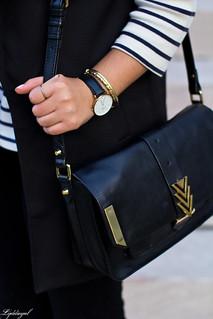 long black vest, striped shirt, white mules, black pants-7.jpg