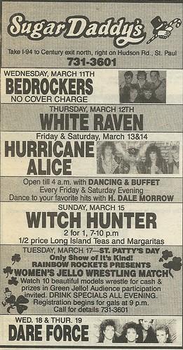 03/13 - 14/87 Hurricane Alice @ Sugar Daddy's, St. Paul, MN