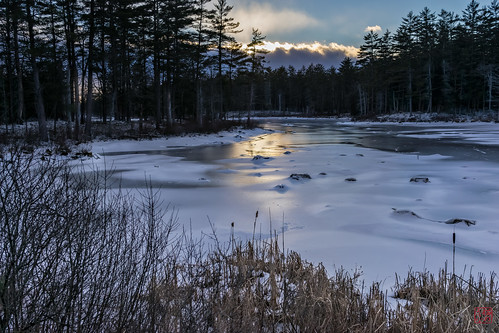 sunset unitedstates massachusetts beaver tully royalston tullylake winter2014