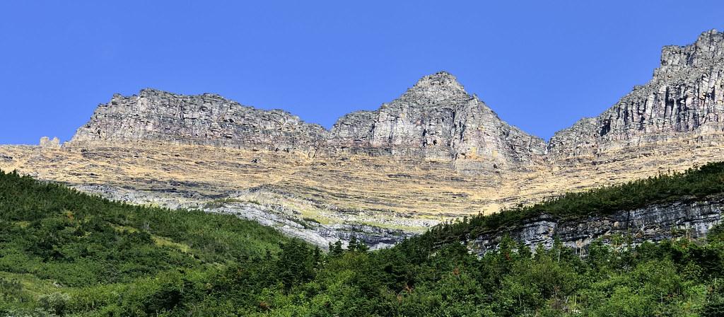 Precambrian Belt Supergroup Mesoproterozoic sedimentary rocks, Glacier National Park, Montana