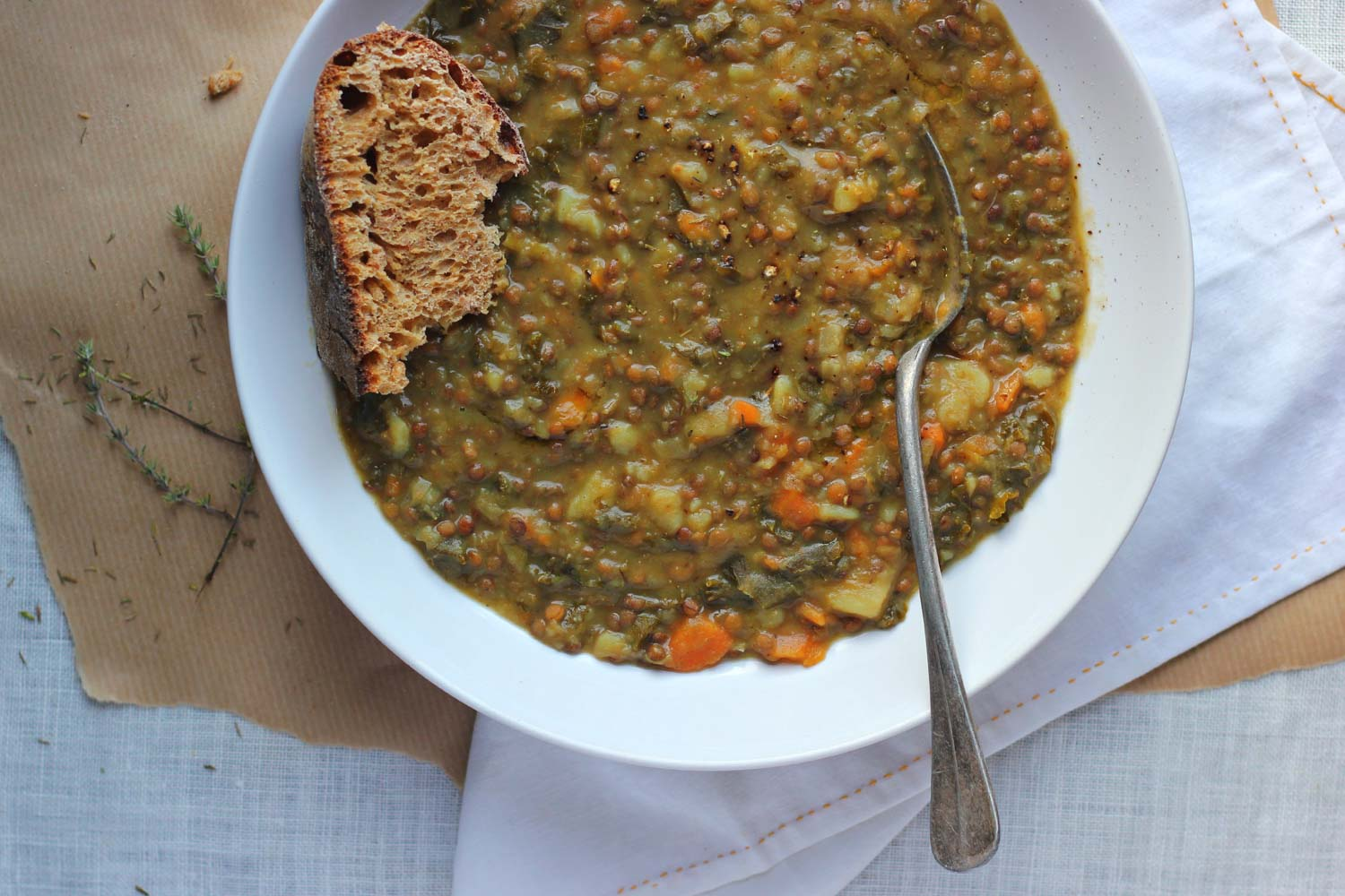 Vegan French Market Vegetable and Lentil Stew
