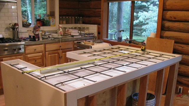 forms a creative cast undermount place countertop kitchen with countertops diy in of sink view closer pour contemporary island concrete