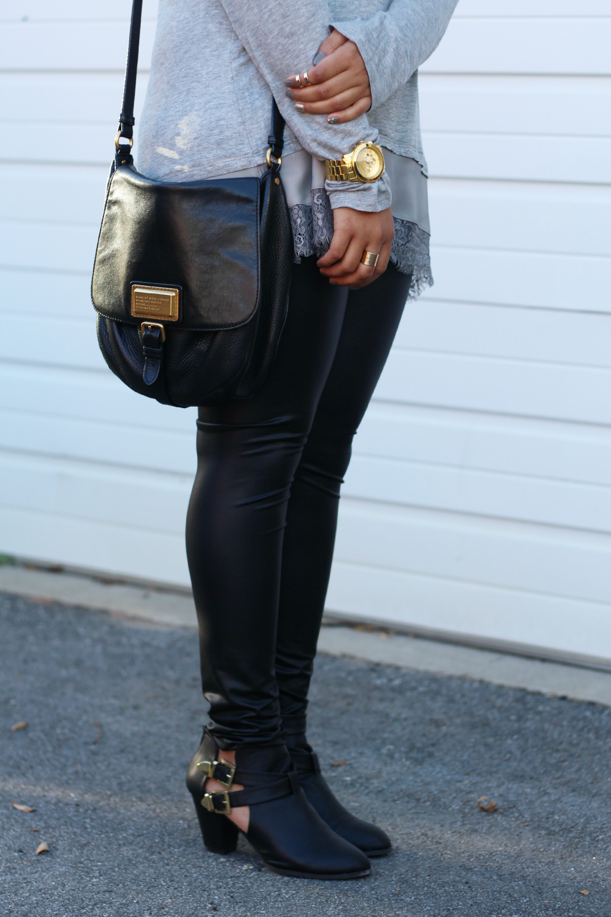 Leather Leggings + Booties