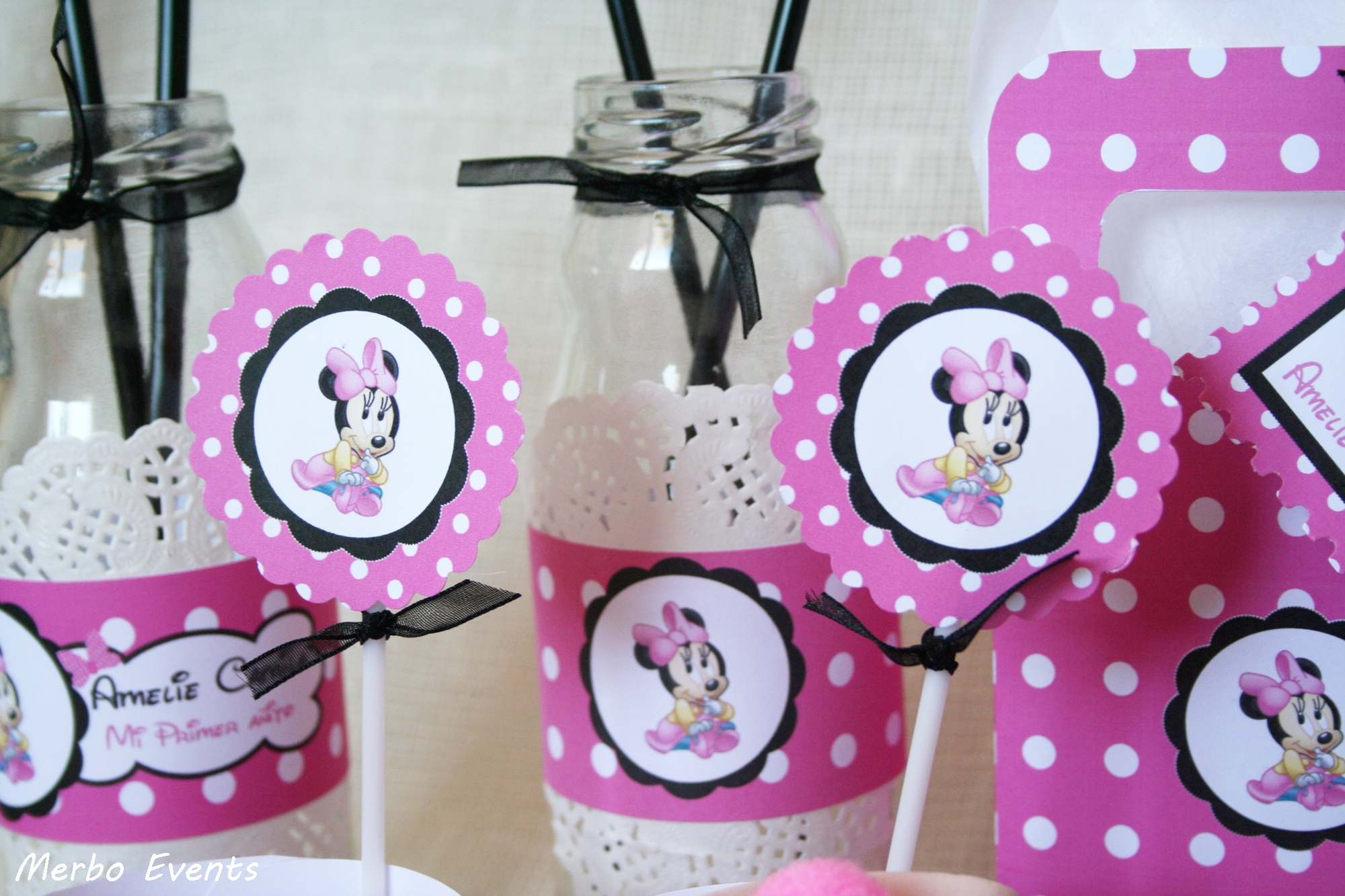 Toppers minnie cumpleaños