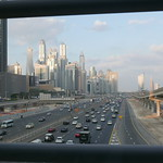 Dubai Marina - View from Jumeirah Lake Towers Metro Station
